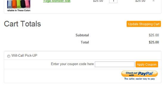 Shopping Cart Coupon Codes
