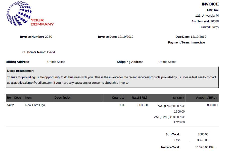 invoices-PDF-format