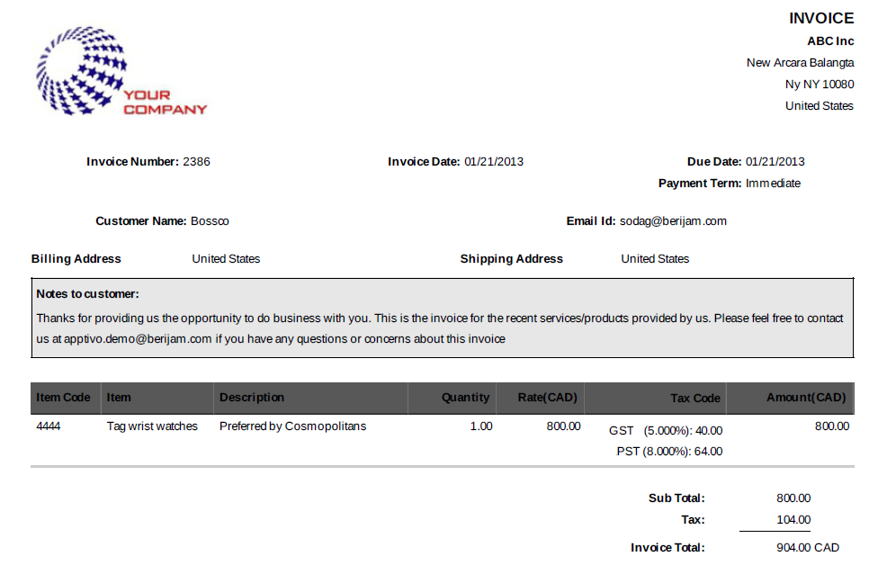 recruitment invoice template, Invoice examples