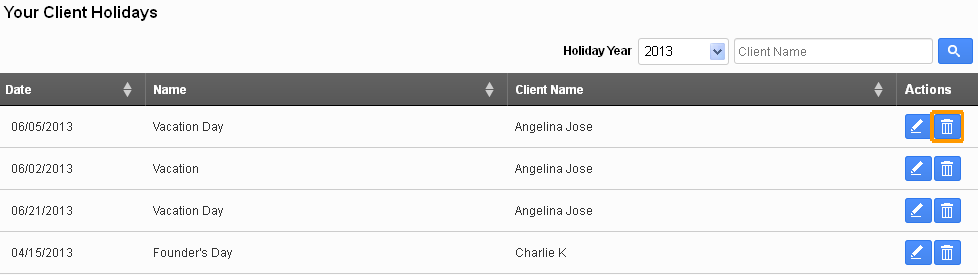 Your client holiday