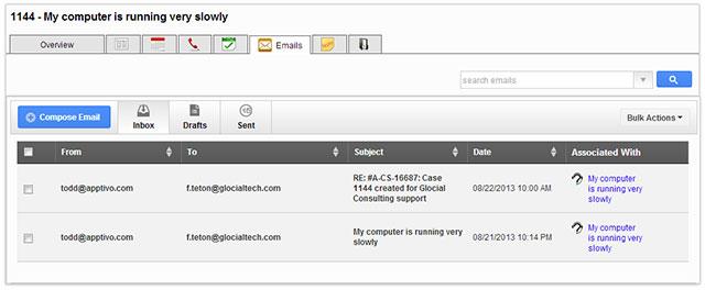 Case Inbox Emails