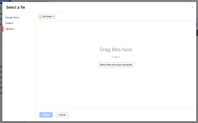 how to cancel uploads on google drive