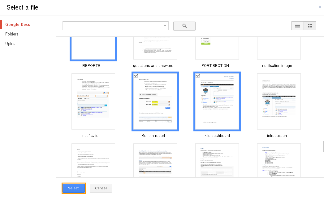 how to add documents to google drive from ipad