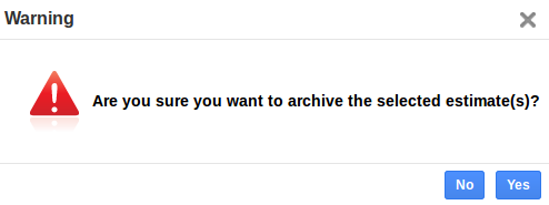 archive warning popup