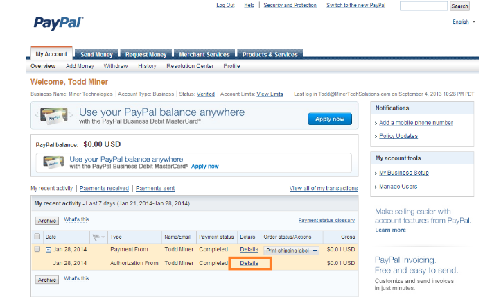 How Do I Find And Track The Invoice Which Is Paid Using Paypal - How to make an invoice through paypal