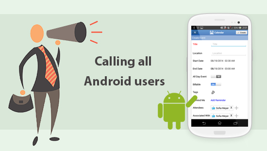 Mobile Android CRM Update