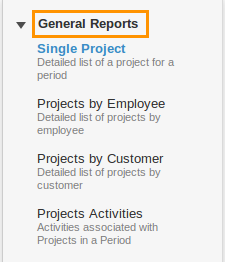 Projects General Reports