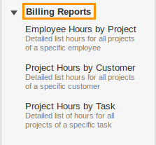 Projects Billing Reports
