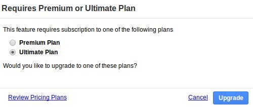 Premium or Ultimate plan