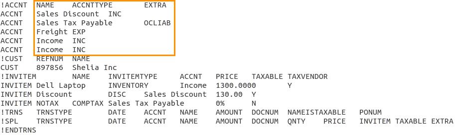Export quickbooks format
