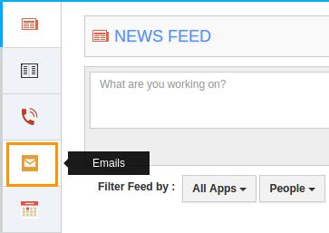 Emails menu