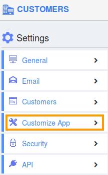 Customize App Setting