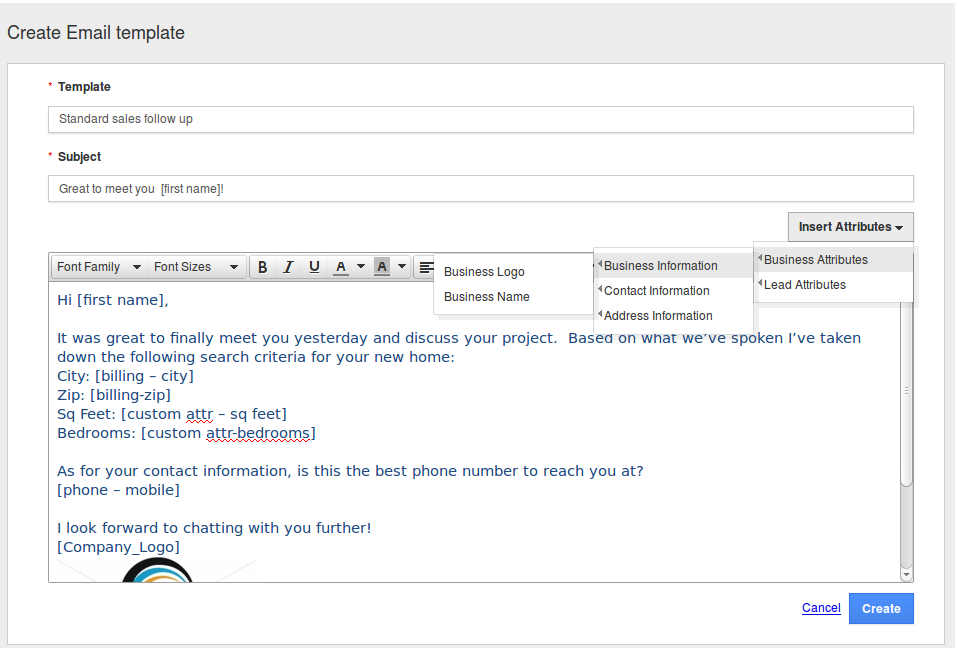 How do i create custom email templates in crm apps for Making an email template