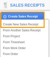 sales receipt