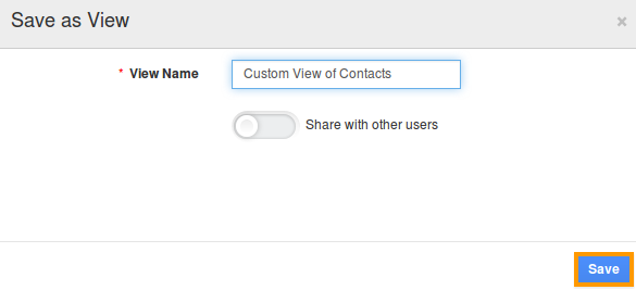 Custom View of Contacts