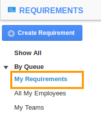 my requirements