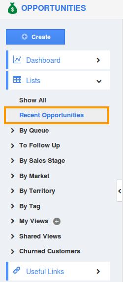 Recent Opportunities