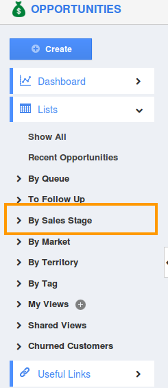Sales Stage Selection