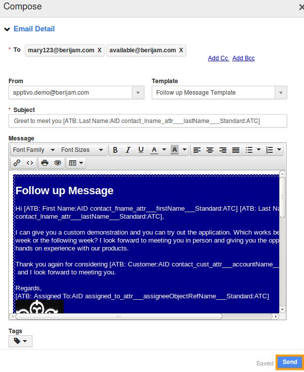 Sending Bulk Email