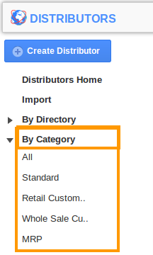 by category of distributors