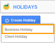 Create Business Holiday