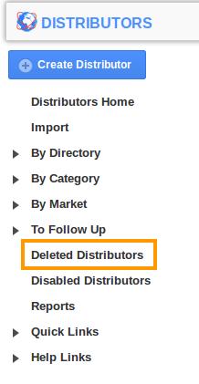 Deleted Distributors