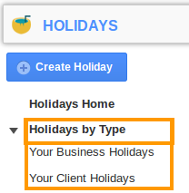 Holidays By Type