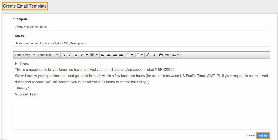 email phone message template