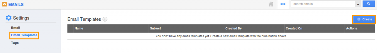 email templates create