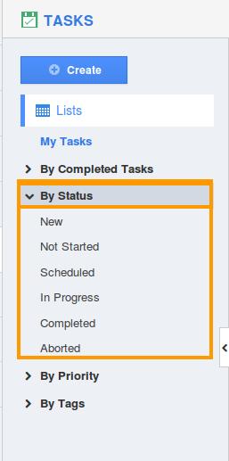 tasks status