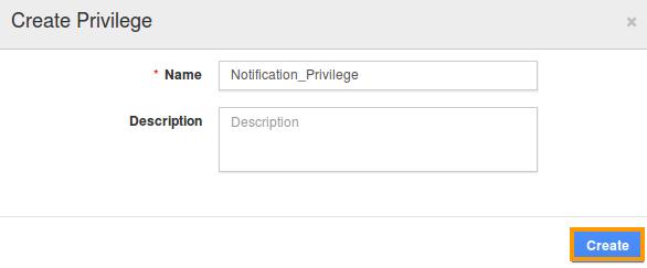 Notifications privilege