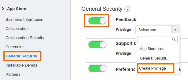 General Security_Create