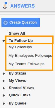 Answer Followups