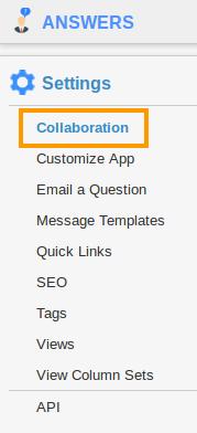 Collaboration Settings