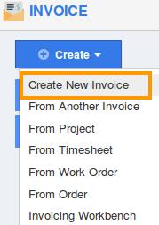 Create New Invoices
