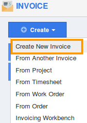create new invoice