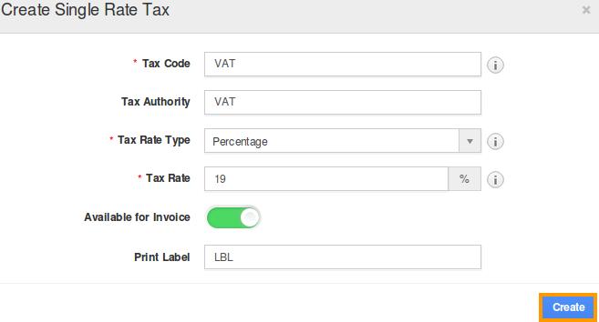 single rate tax