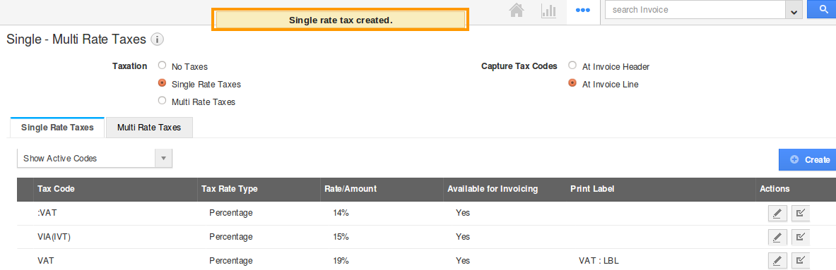 created tax
