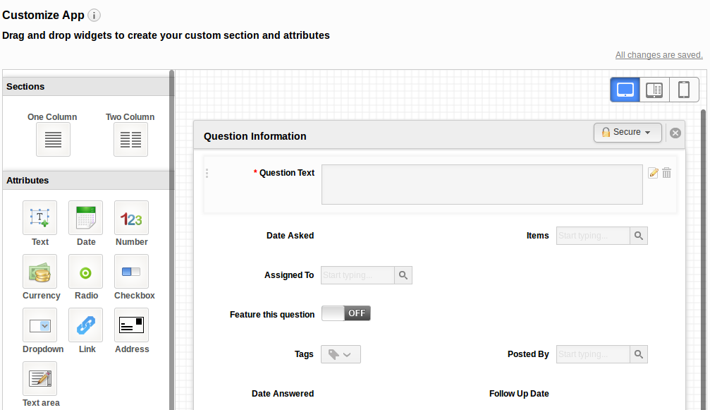 Custom Section Page