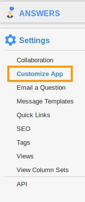Customize App Settings