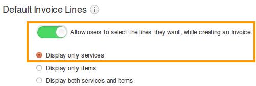 Default Invoice Line