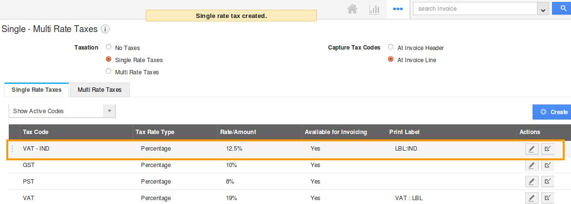 tax code lists