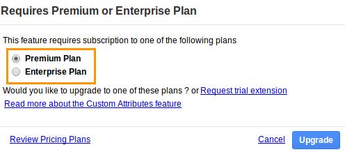 Plan Upgrade Popup
