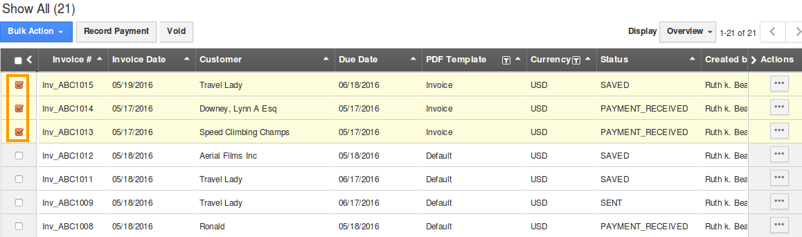 select-invoices