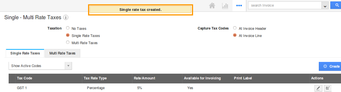 tax created popup