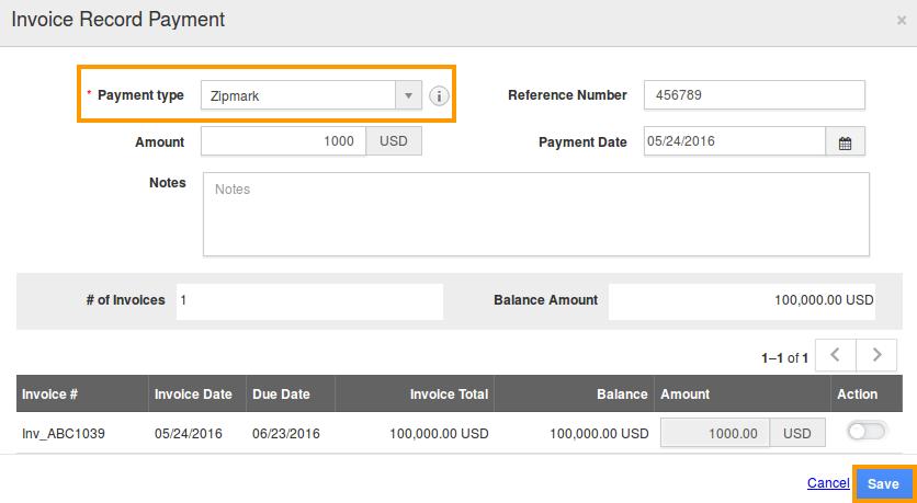 how do i record a partial payment for an invoice apptivo faq