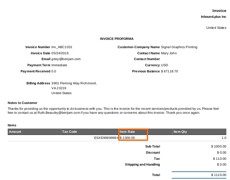 How Do I Change The Column Headings Text On My Invoices Apptivo FAQ - Invoice header template