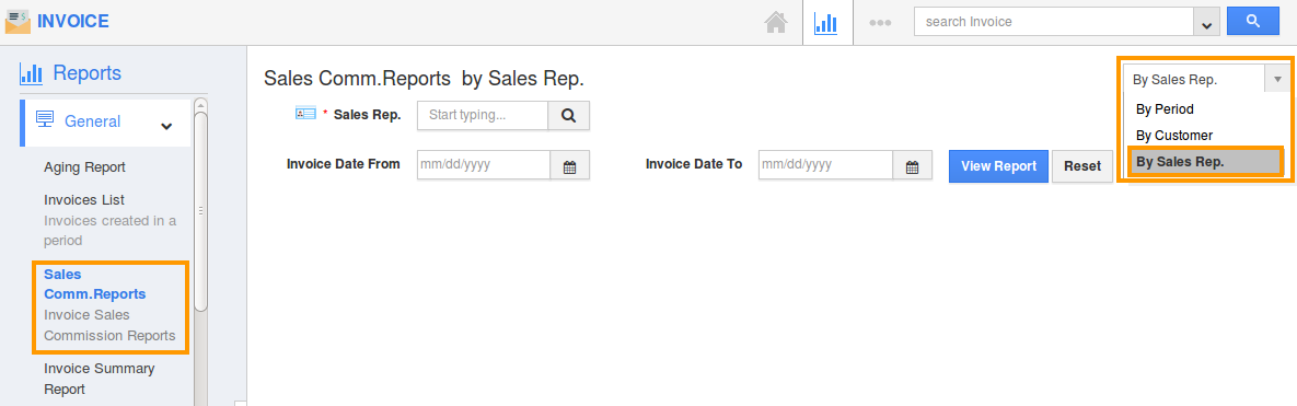 from the drop down sales commission rep