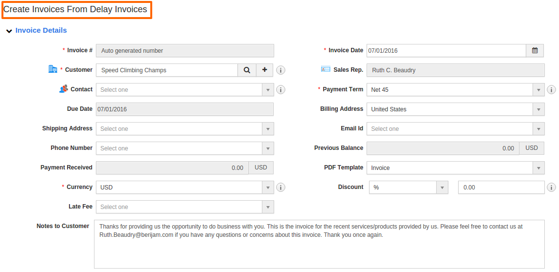How Do I View And Create Delayed Invoices For Paid Invoice - Speed invoice
