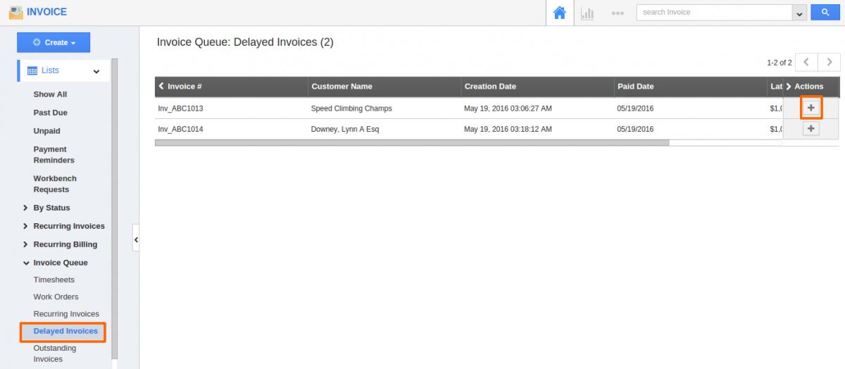 Delayed invoices